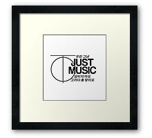 Just Music - Just (Logo Version) Framed Print