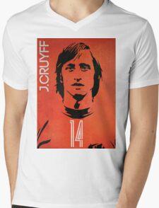 Cruyff Mens V-Neck T-Shirt
