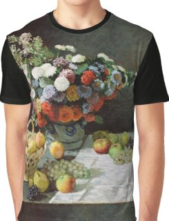 Claude Monet - Still Life with Flowers and Fruit (1869) Graphic T-Shirt