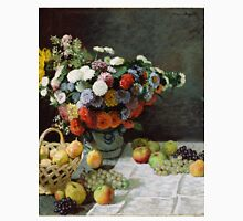 Claude Monet - Still Life with Flowers and Fruit (1869) T-Shirt