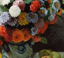 Claude Monet - Still Life with Flowers and Fruit (1869) Sticker
