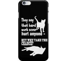Hard Work Chalk Quote iPhone Case/Skin