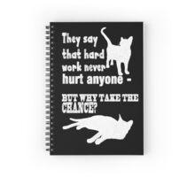 Hard Work Chalk Quote Spiral Notebook