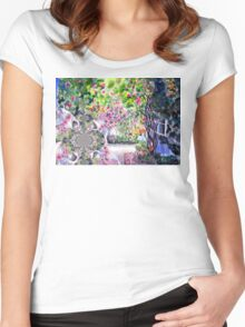 Dreaming of a Rose Garden Women's Fitted Scoop T-Shirt