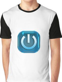 Geek Power Button Graphic T-Shirt