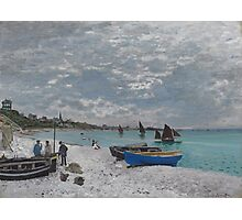 Claude Monet - The Beach at Sainte-Adresse (1867) Photographic Print