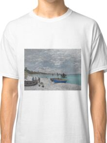Claude Monet - The Beach at Sainte-Adresse (1867) Classic T-Shirt
