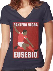 Eusebio Women's Fitted V-Neck T-Shirt