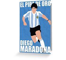 Maradona Greeting Card