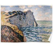 Claude Monet - The Cliff of Aval Etrétat Poster