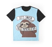 "Feminist Sloth ""Smash the Patriarchy"" Graphic T-Shirt"