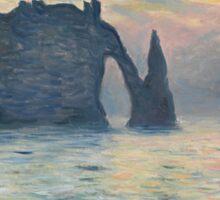 Claude Monet - The Cliff, Étretat,  Sunset  Impressionism Sticker