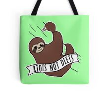 """Feminist Sloth """"Riots Not Diets"""" Anti-Diet Sloth Tote Bag"""