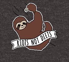 "Feminist Sloth ""Riots Not Diets"" Anti-Diet Sloth Unisex T-Shirt"