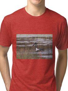 On A Dusk Pond Tri-blend T-Shirt