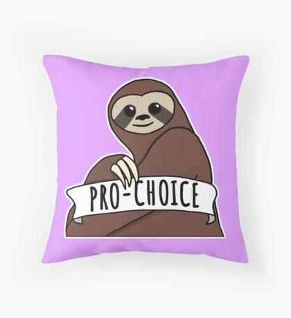 "Feminist Sloth ""Pro-Choice"" Throw Pillow"