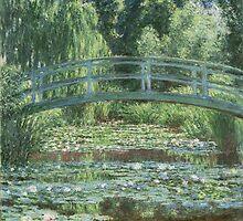 Claude Monet - The Japanese bridge (1919 - 1924) by famousartworks
