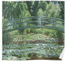 Claude Monet - The Japanese bridge, Impressionism Poster