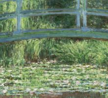 Claude Monet - The Japanese bridge, Impressionism Sticker