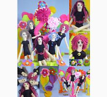 Felt Play Land Montage Womens Fitted T-Shirt