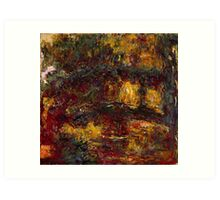Claude Monet - The Japanese Footbridge  Giverny Art Print