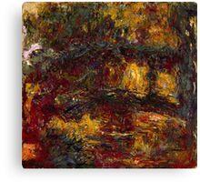 Claude Monet - The Japanese Footbridge  Giverny Canvas Print