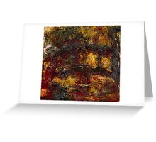 Claude Monet - The Japanese Footbridge  Giverny Greeting Card
