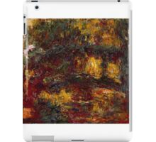 Claude Monet - The Japanese Footbridge  Giverny ,Impressionism iPad Case/Skin