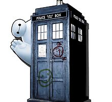 baymax police box by criwilart