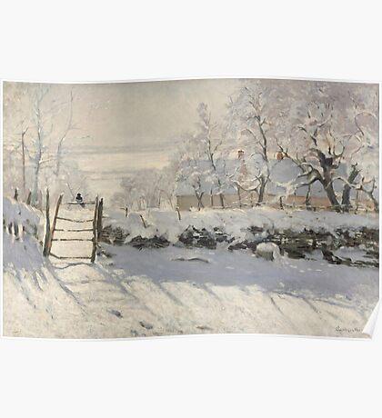 Claude Monet - The Magpie  Impressionism Poster