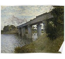 Claude Monet - The Railroad bridge in Argenteuil  Impressionism Poster