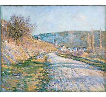 Claude Monet - The Road to Vétheuil  Impressionism Photographic Print