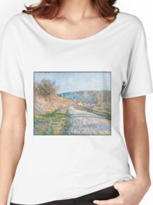 Claude Monet - The Road to Vétheuil  Impressionism Women's Relaxed Fit T-Shirt