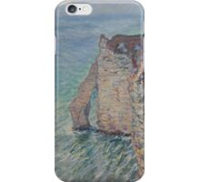 Claude Monet - The Rock Needle and the Porte d'Aval (1886) iPhone Case/Skin