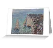 Claude Monet - The Rock Needle and the Porte d'Aval (1886) Greeting Card