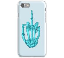 Aqua Skeleton Finger iPhone Case/Skin