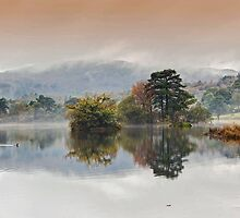 Rydal Water Autumn Mist by georgehopkins