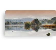 Rydal Water Autumn Mist Canvas Print