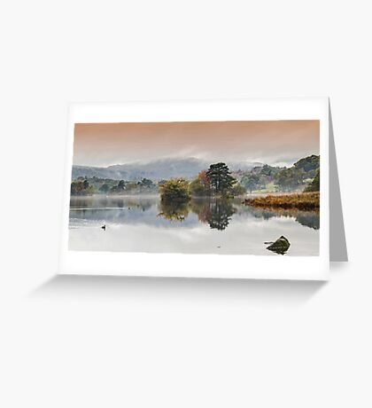 Rydal Water Autumn Mist Greeting Card