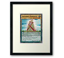 Qliphort Monolith Framed Print