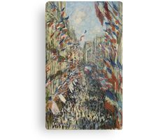 Claude Monet - The Rue Montorgueil in Paris. Celebration of June 30 Canvas Print