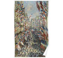 Claude Monet - The Rue Montorgueil in Paris. Impressionism Poster