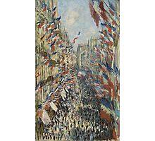 Claude Monet - The Rue Montorgueil in Paris. Impressionism Photographic Print
