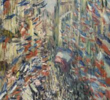 Claude Monet - The Rue Montorgueil in Paris. Celebration of June 30 Sticker