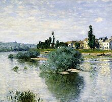 Claude Monet - The Seine at Lavacourt (1880) by famousartworks