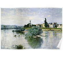 Claude Monet - The Seine at Lavacourt ,Impressionism Poster