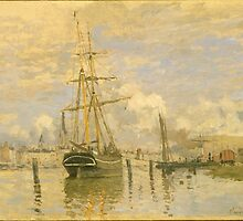 Claude Monet - The Seine at Rouen (1872) by famousartworks