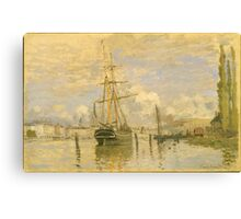 Claude Monet - The Seine at Rouen (1872) Canvas Print