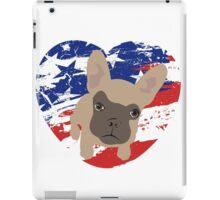 Proud American Frenchie, fourth of July iPad Case/Skin