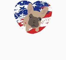 Proud American Frenchie, fourth of July Unisex T-Shirt